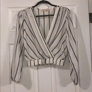 Striped cross top!